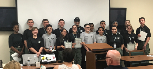 OCSO welcomes our newest group of Explorers and Junior Cadets