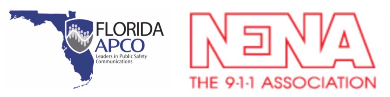 Logos of Florida APCO and NENA 911 Association