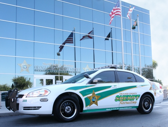 OCSO Recruiting vehicle in front of Sheriff's Office Central Complex