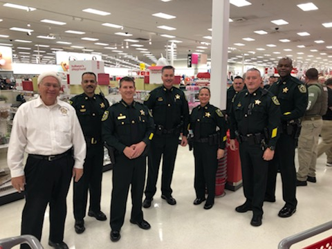 Deputies at Annual Cops for Kids Shopping event at Target