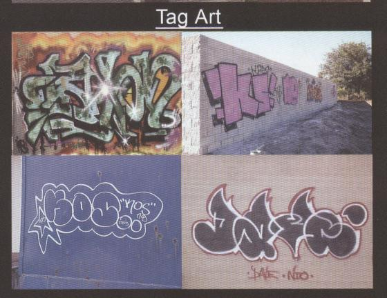 Examples of Tag Art
