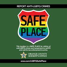 LGBTQ Safe Place Initiative Decal sample