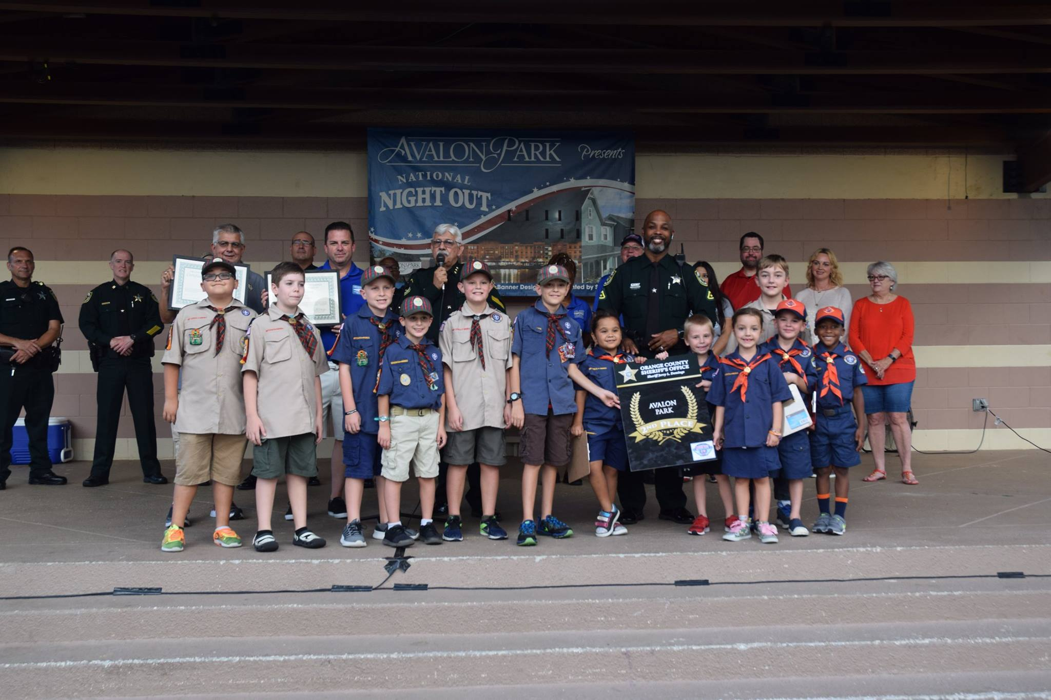 National Night Out award presentation