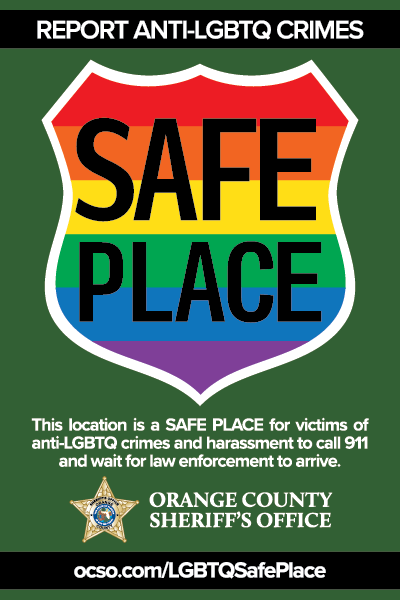 Sample Safe Place Decal