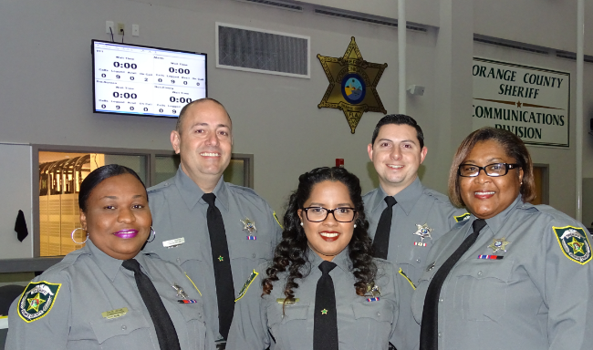 Staff at OCSO Communications Center