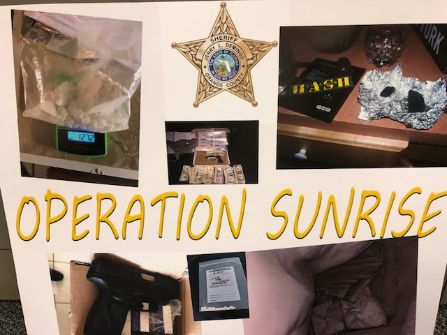 Contraband seized during Operation Sunrise