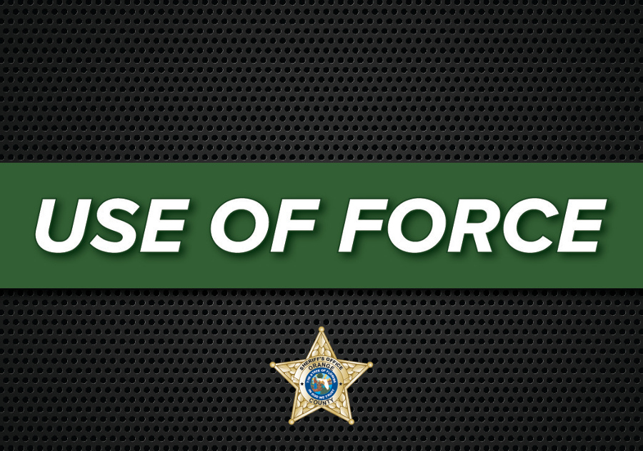 Text stating Use of Force over metal grate background